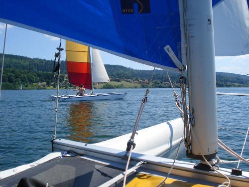 Catamaran-à-bord